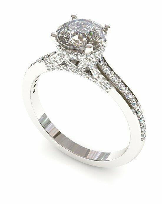 Enchanted Diamonds Round Pave with Side Halo CH1-4W-R Engagement Ring photo