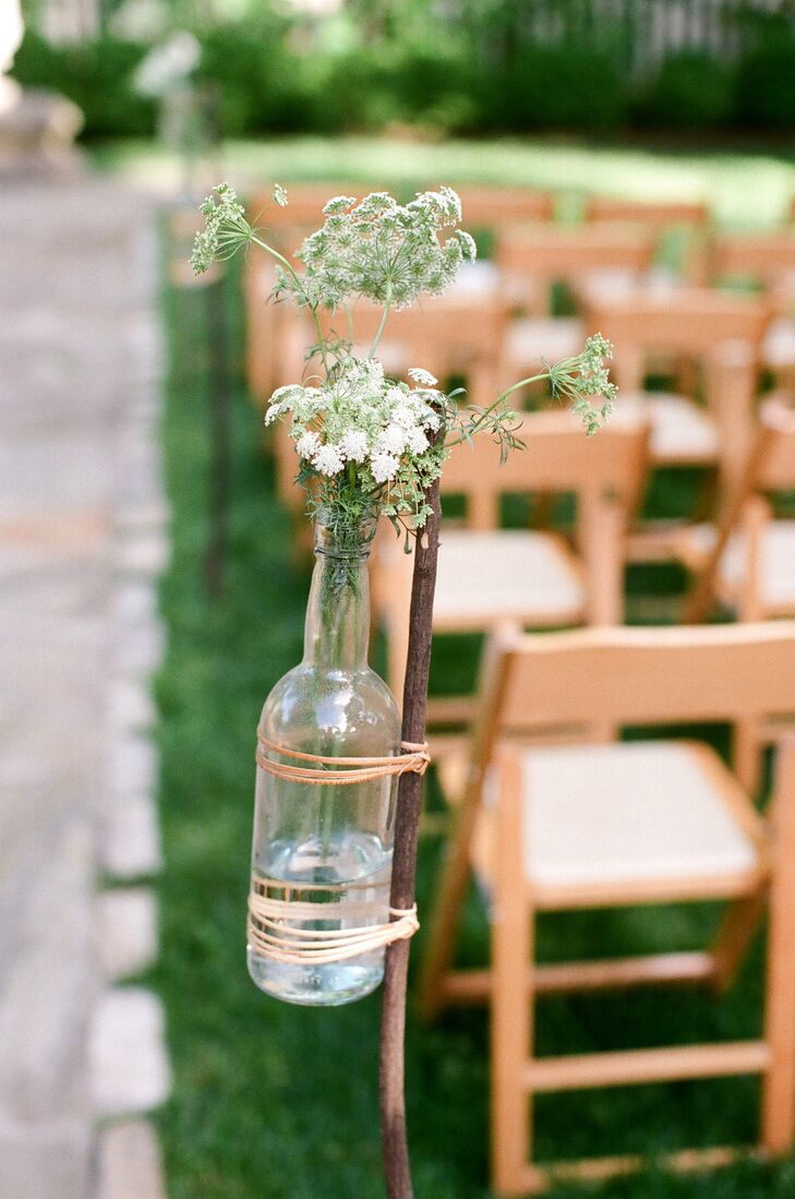 10 ways to decorate with wine bottles queen annes lace aisle decor in wine bottles junglespirit Gallery