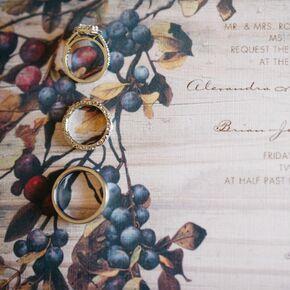 Vineyard Themed Wedding Invitations