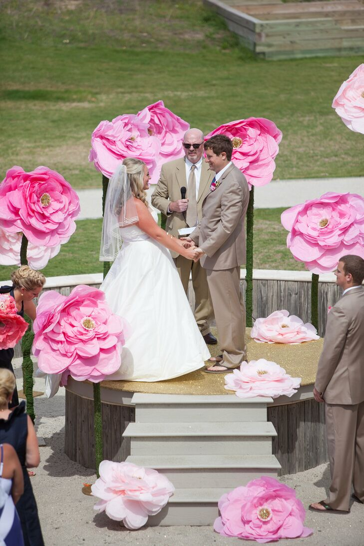 Whimsical oversized paper flower ceremony decor mightylinksfo