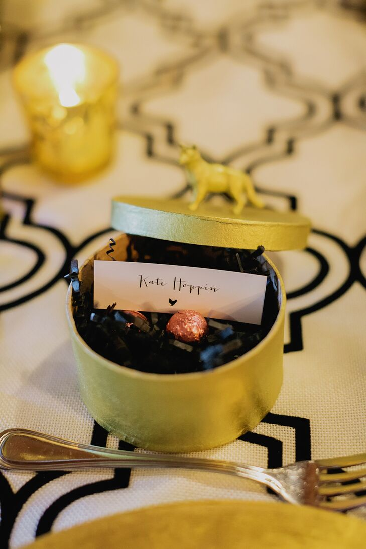 Gold Candy Box Wedding Favor