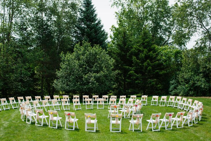 Katrina And Sandy Arranged The Guests Ceremony Chairs In A Spiral So That Each Of