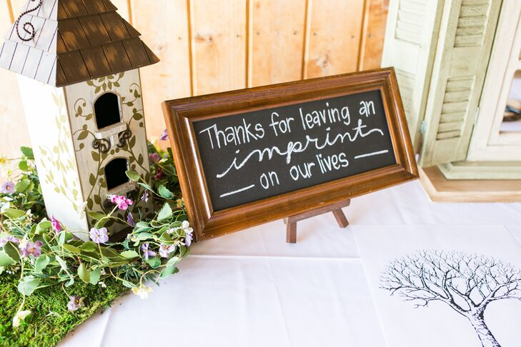 DIY Chalkboard Sign in Wooden Frame