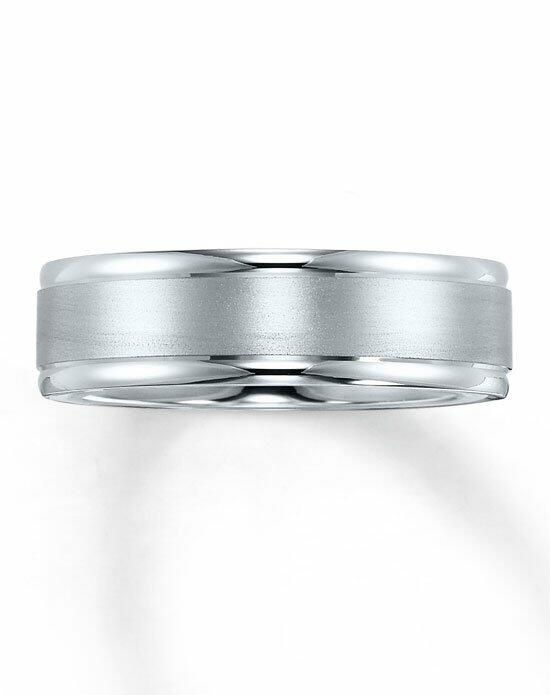 Kay Jewelers 10K White Gold Brushed Center Wedding band-252134806 Wedding Ring photo