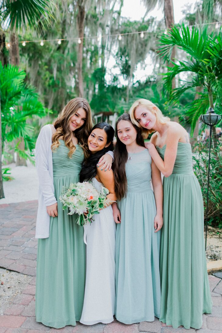 Weddington way long green bridesmaid dresses ombrellifo Choice Image