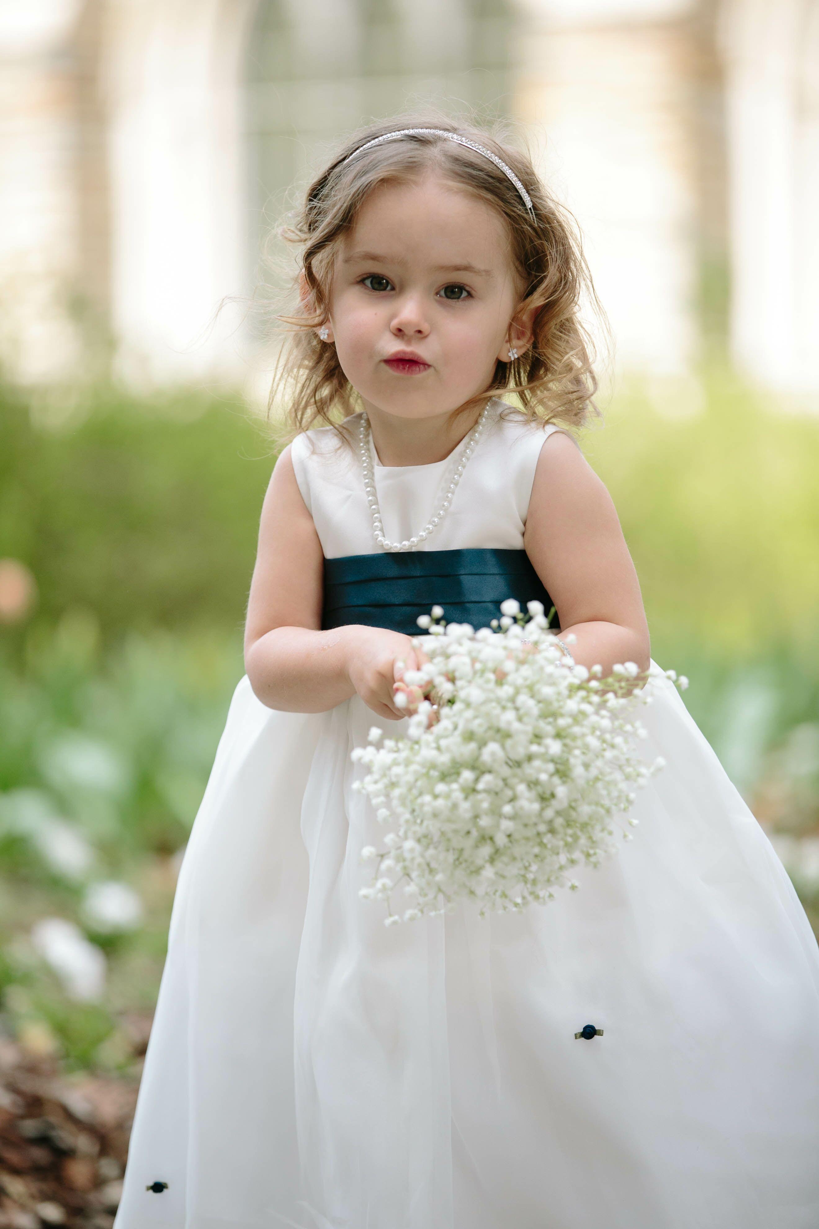 Flower Girl Baskets Bouquets : Baby s breath flower girl bouquet