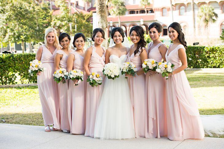 Joanna August Blush Bridesmaids Dresses