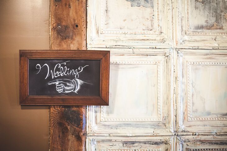 DIY Directional Chalkboard Sign