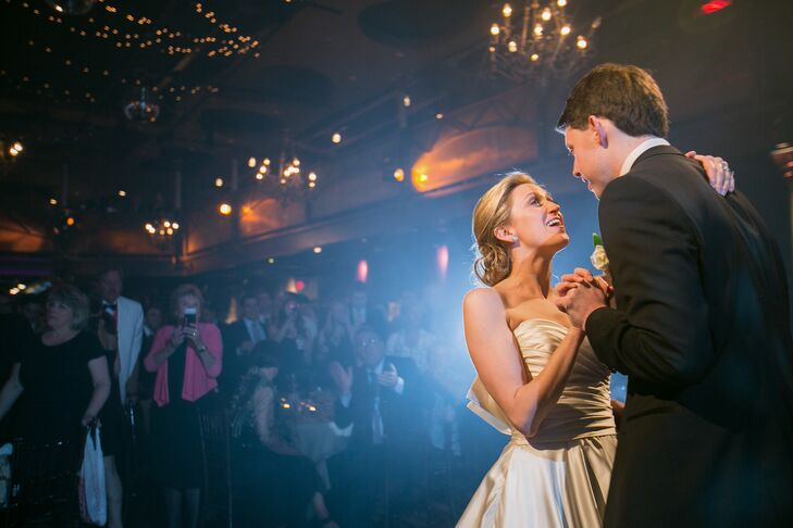 "Minneapolis-based band The Sevilles performed ""Don't Dream It's Over"" for the couple's first dance as newlyweds."