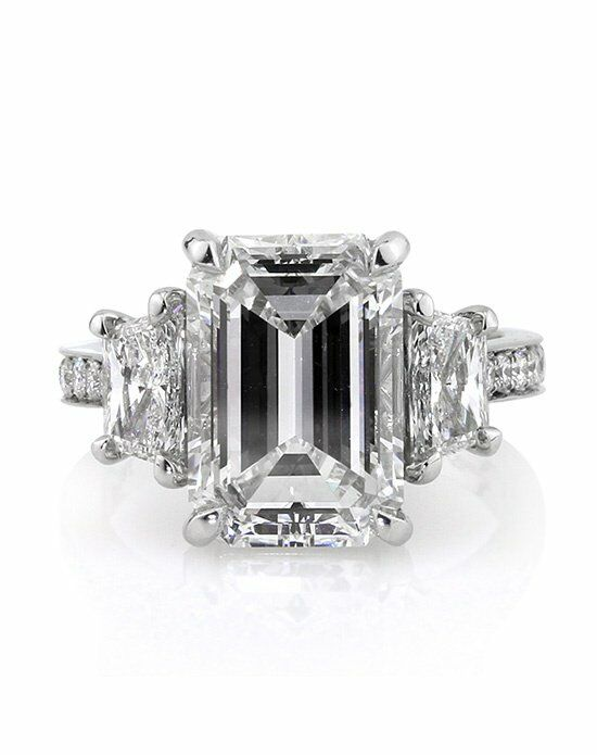 Mark Broumand 7.18ct Emerald Cut Diamond Engagement Ring Engagement Ring photo
