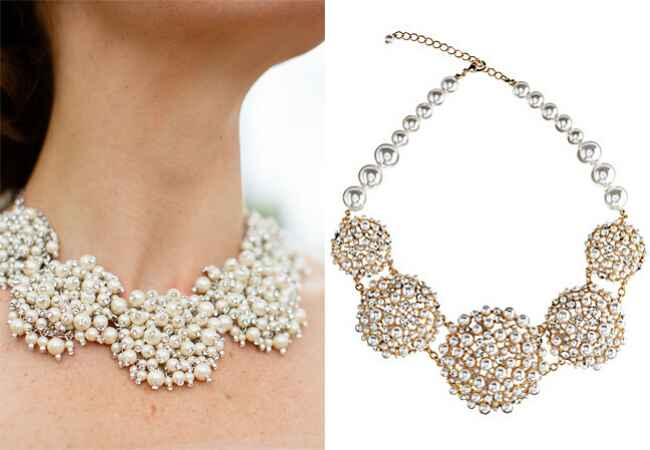 Pearl Statement Necklace |<img class=