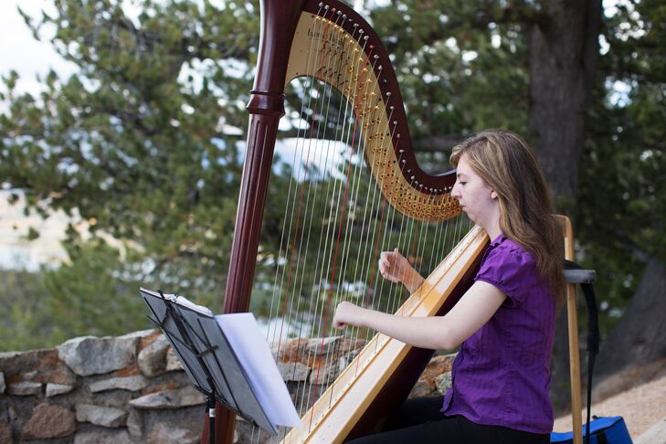 A harpist softly played classical music as guests arrived to the ceremony, setting an elegant, romantic tone of for the event.