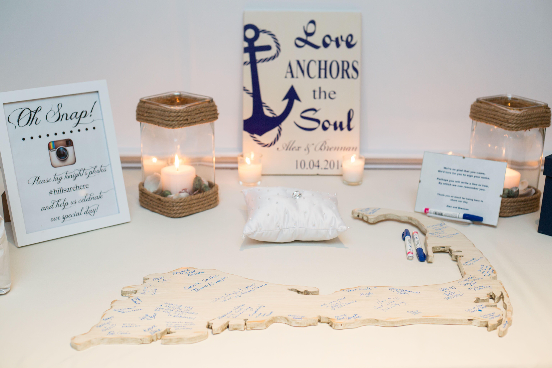 Scrapbook guest book ideas - Cape Cod Shaped Guest Book Alternative