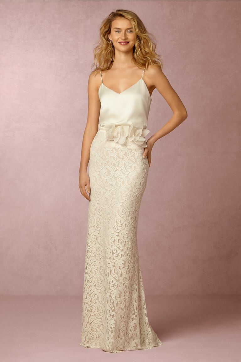 BHLDN Mia Top And Ellory Skirt Two Piece Casual Beach Wedding Dress