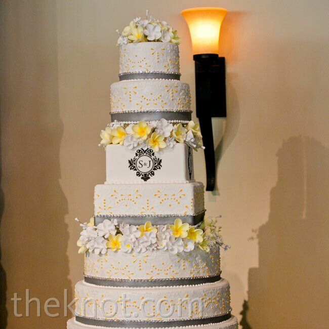 yellow and gray wedding cakes yellow and gray wedding cake 27686
