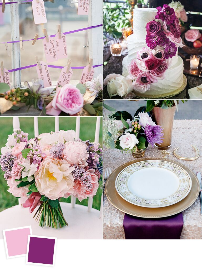12 fall wedding color combos to steal lilac and violet wedding color ideas junglespirit Gallery