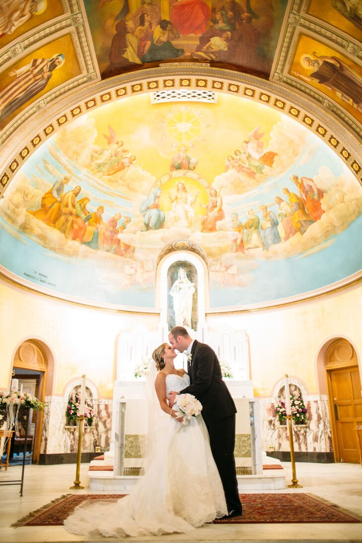 A Tiffany Blue Catholic Wedding at Valley View Golf Course in Utica ...