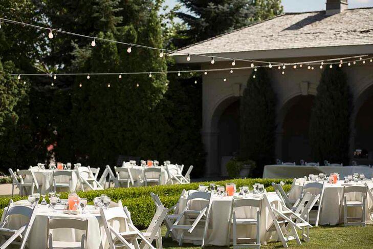 A romantic garden wedding at thanksgiving point in lehi utah for Loggia garden thanksgiving point
