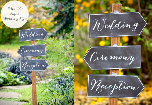 DIY Wedding Signs My Own Labels TheKnot