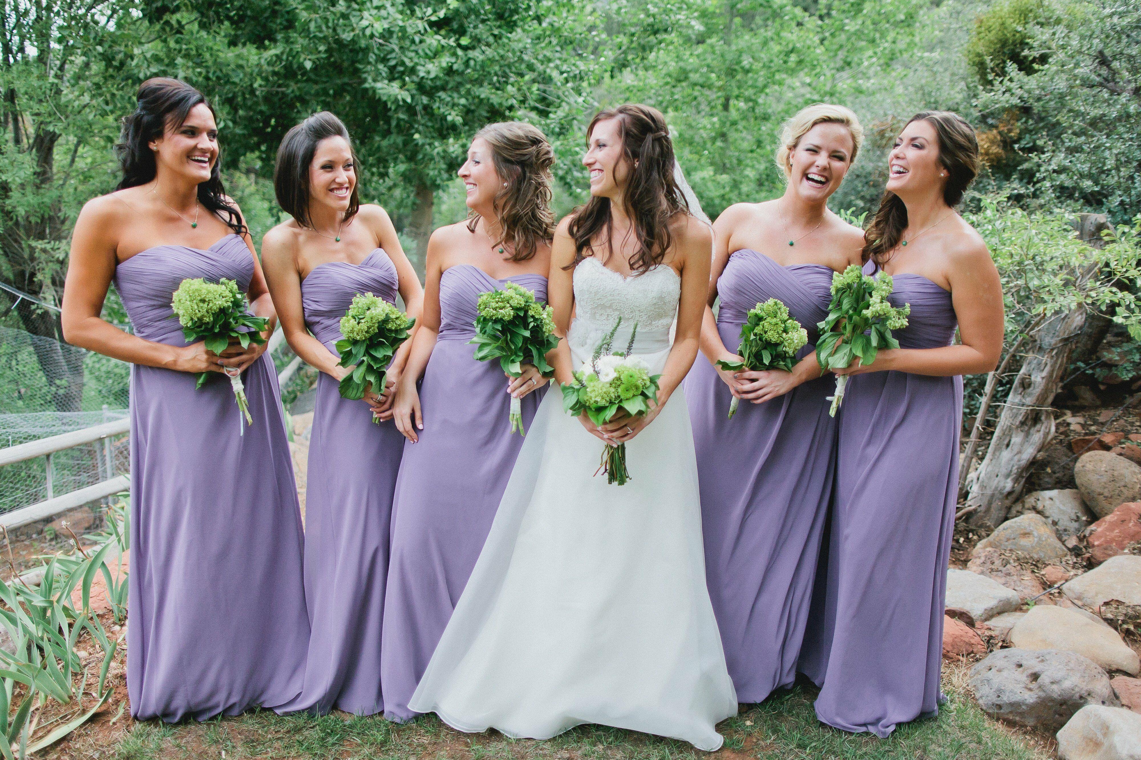 lilac bridesmaid and groom - HD4000×2667