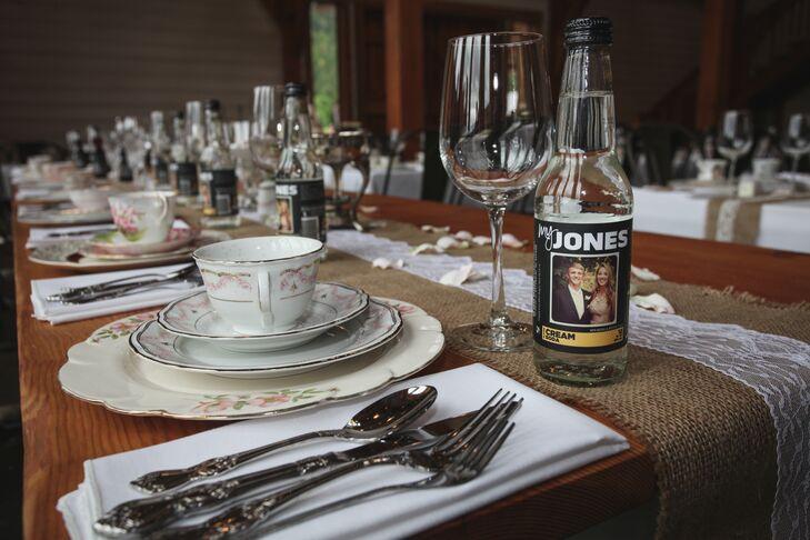 Rustic Farmhouse Wedding Table Settings