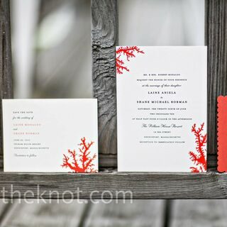 Real Beach Wedding Invitations