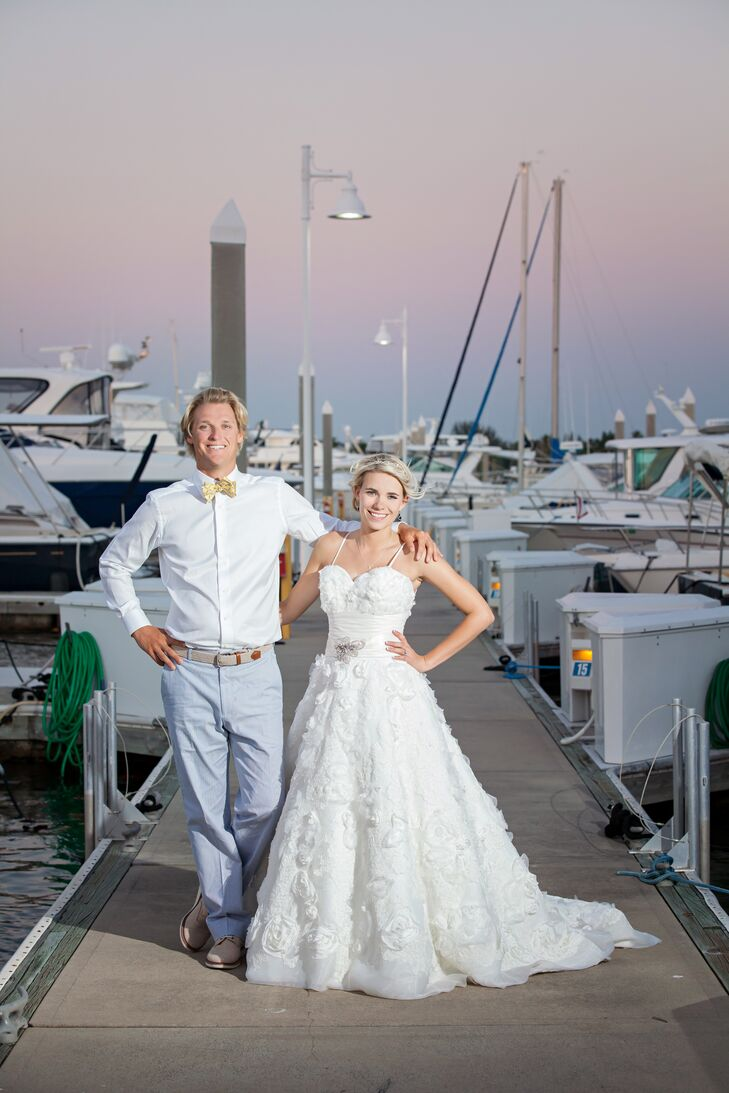 A nautical wedding at the naples yacht club in naples florida ombrellifo Images