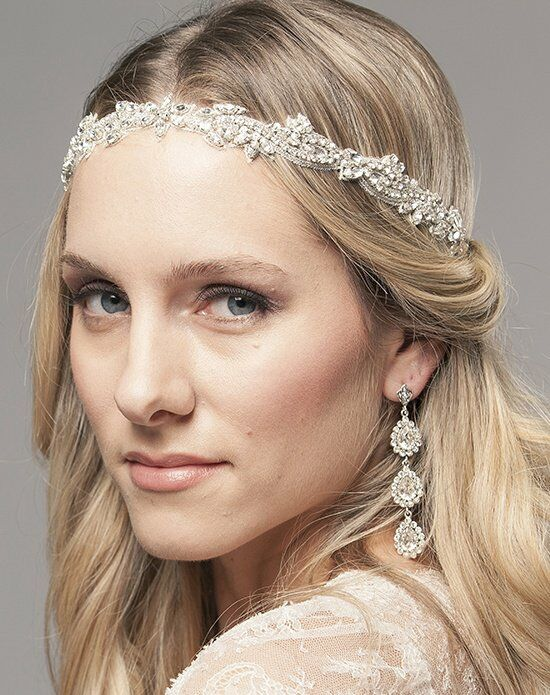 Laura Jayne Demi Embroidered Hair Band Wedding Accessory photo