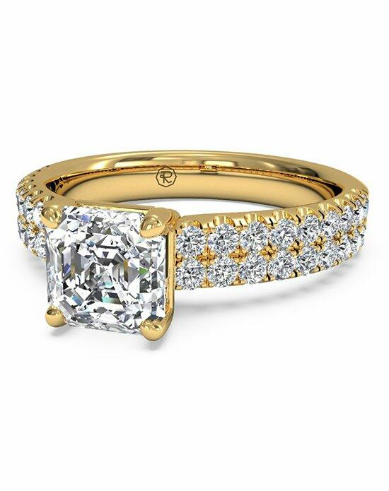 Ritani Asscher Cut Double French-Set Band Engagement Ring in 18kt Yellow Gold (0.59 CTW) Engagement Ring photo