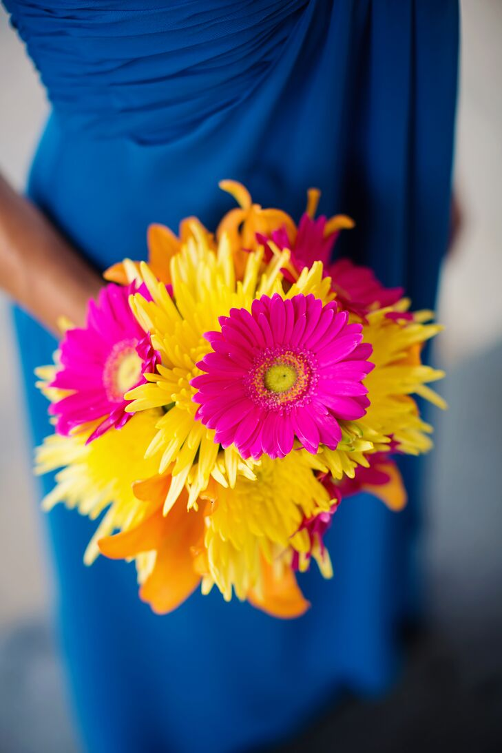 Yellow And Pink Gerbera Daisy Bouquet
