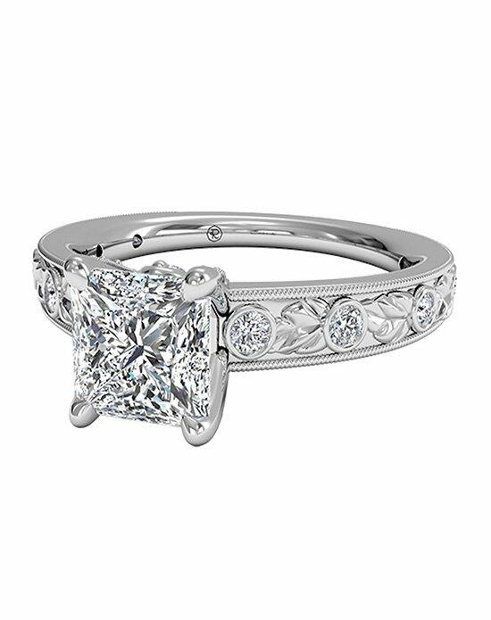 Ritani Princess Cut Grecian Leaf Diamond Band Engagement Ring with Surprise Diamonds in Platinum (0.14 CTW) Engagement Ring photo