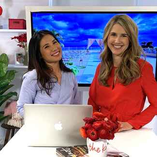 the knot editors lauren kay and esther lee host national wedding planning day travel segment