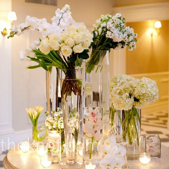 Modern white flower arrangements mightylinksfo