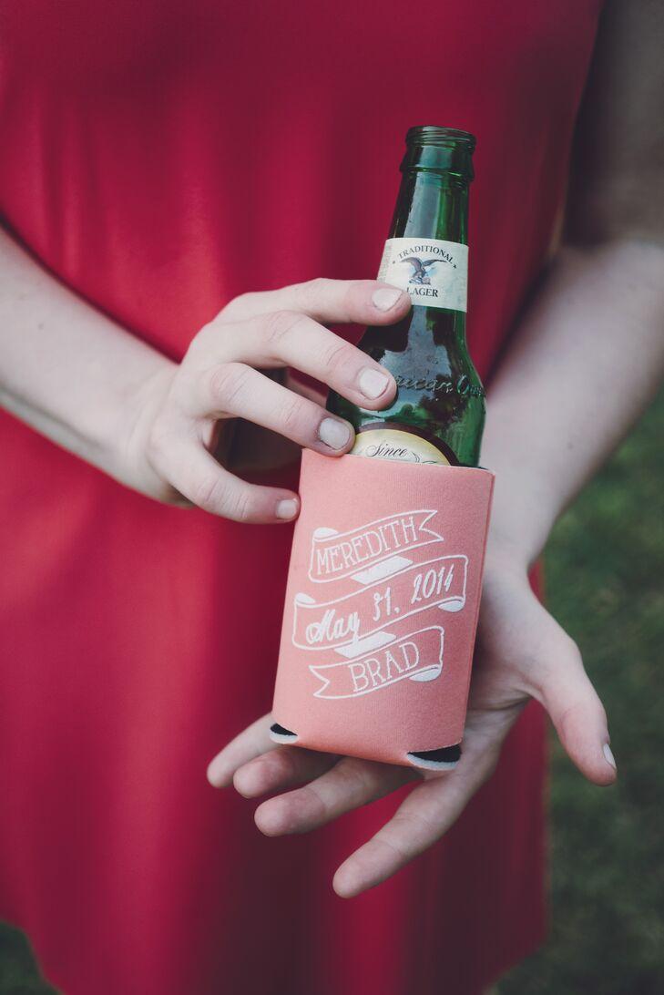 personalized beer koozies as favors