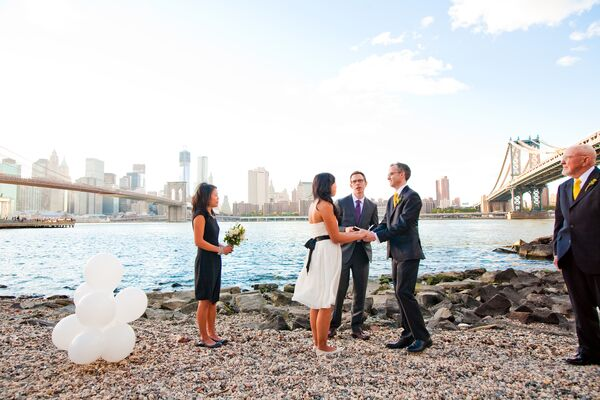East River Wedding Ceremony