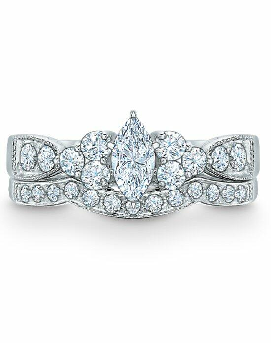 Zales 1 CT. T.W. Marquise Diamond Bridal Set in 14K White Gold   18629782 Engagement Ring photo
