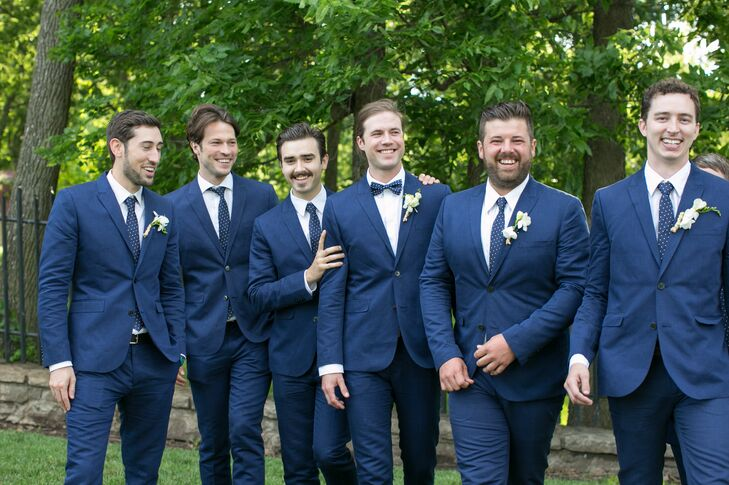 Blue Groomsmen Suits
