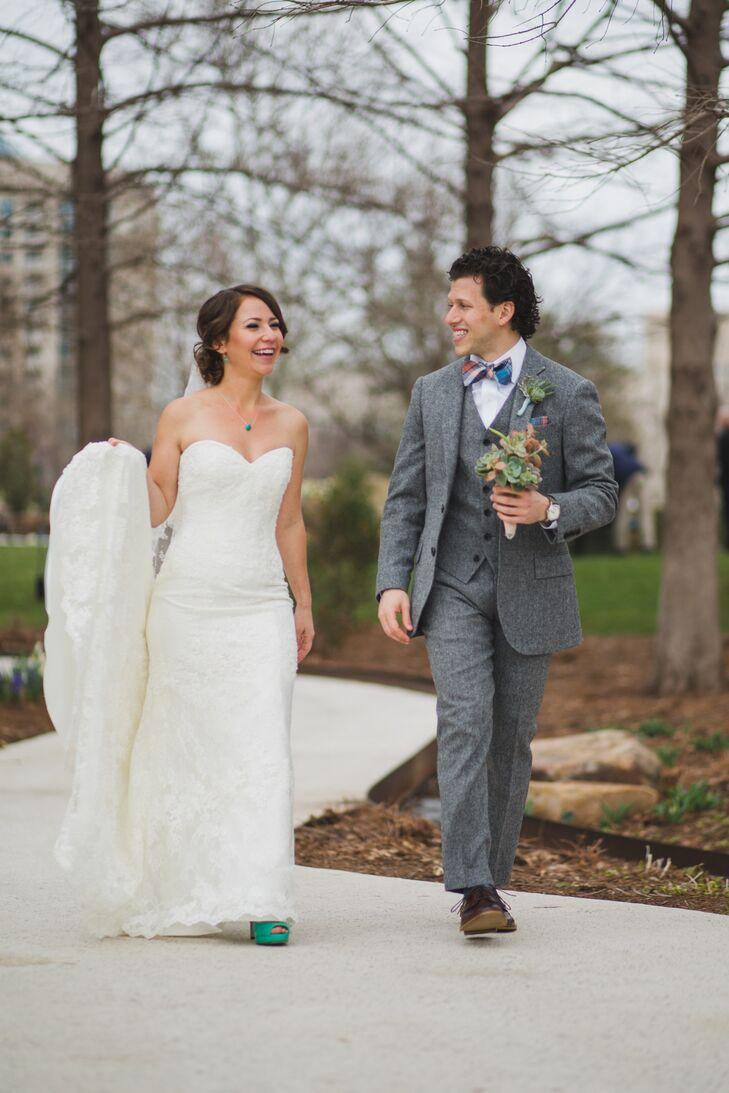 A Whimsical Diy Wedding At Myriad Botanical Gardens In Oklahoma City