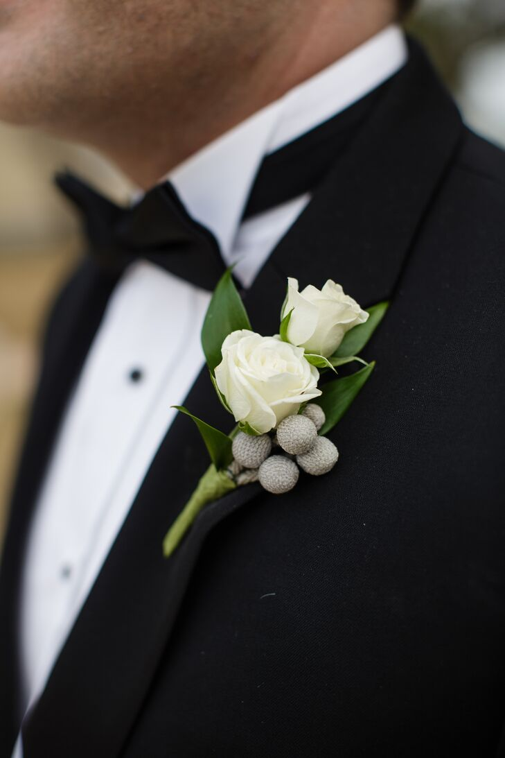 Rose And Brunia Berry Boutonniere