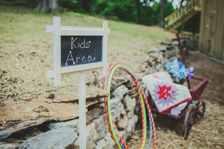 Kids were encouraged to play during the reception and had an entire area with fun games and activities.