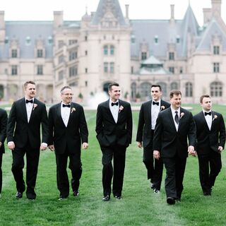 Real Groom Groomsmen Attire Wedding Tuxedos Suits