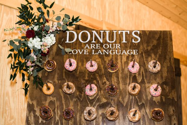 Rustic Wood Donut Wall Display