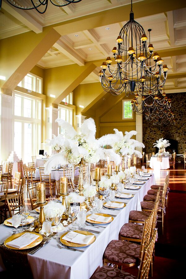 Feather Wedding Centerpieces