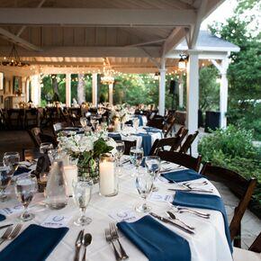 Pavilion Porch Southern Wedding Reception Dinner