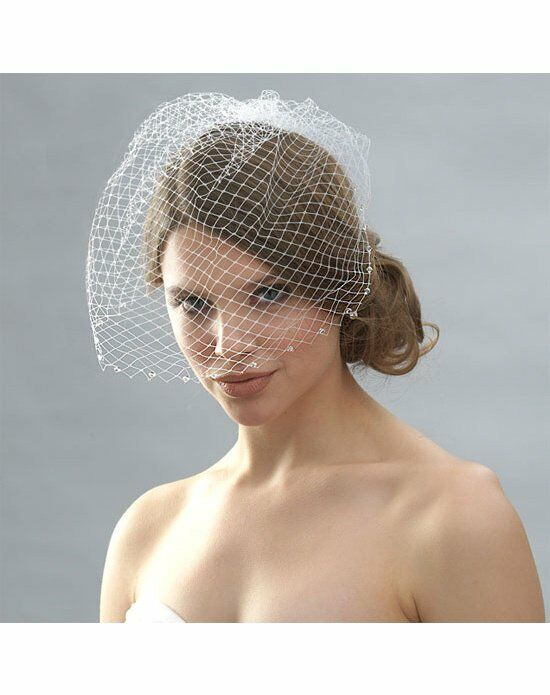 USABride Cage Veil with Swarovski Crystal Edge VB-459 Wedding Accessory photo