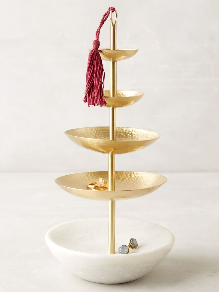 Anthropologie Tasseled Jewelry Stand wedding registry