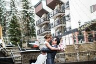 Pennsylvania-based Marcia Snyder and Mitchell Schaffer decided to exchange vows in an intimate elopement at The Arrabelle at Vail Square in Vail, Colo