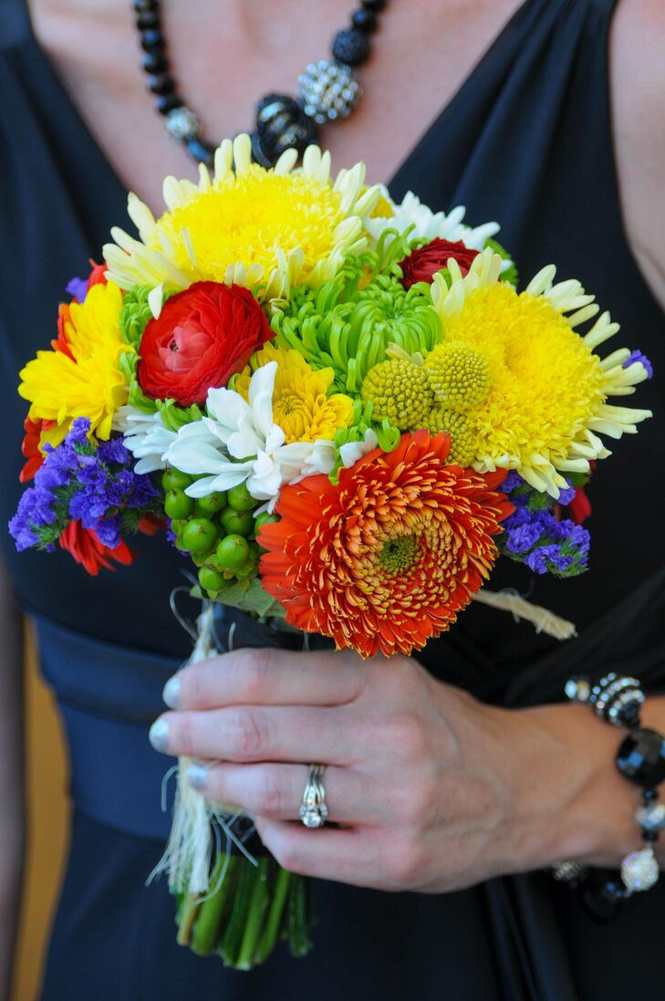 Red and Yellow Chrysanthemum Bouquet