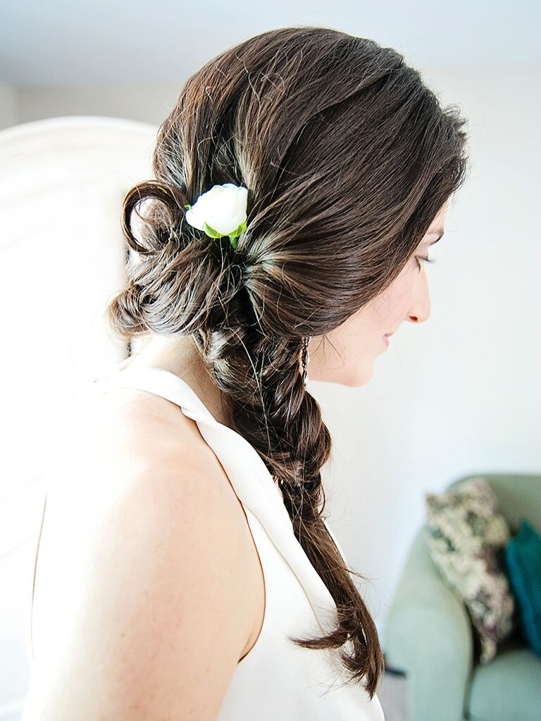 Fishtail Braided Wedding Hairstle For Long Hair