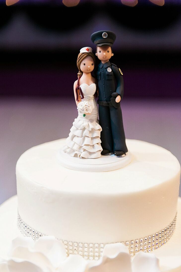 police officer and nurse wedding cake topper and officer cake toppers 18671